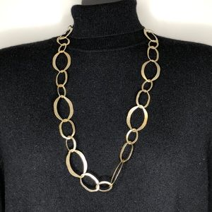 ☘️Long gold tone link chain necklace